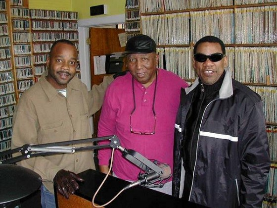 Back in the day: James Andrews, Bob French, and Henry Butler at WWOZ [Photo by Black Mold]