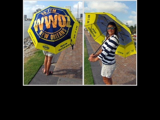 Available in the Swamp Shop: WWOZ umbrella