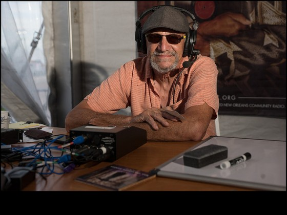 Live broadcast from Jazz Fest in progress [Photo by Ryan Hodgson-Rigsbee]