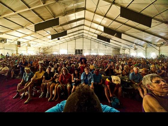 Jazz Tent. Photo by Eli Mergel.