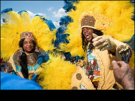 Queen B and Honey with Golden Sioux during day one of Jazz Fest 2016. Photo by Ryan Hodgson-Rigsbee
