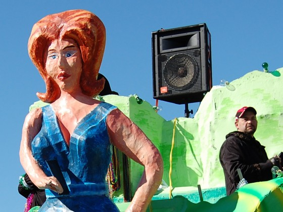 Lady figurehead on float