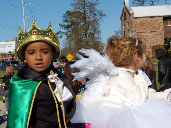 5-year old King Melvin with his consort, Queen Clara