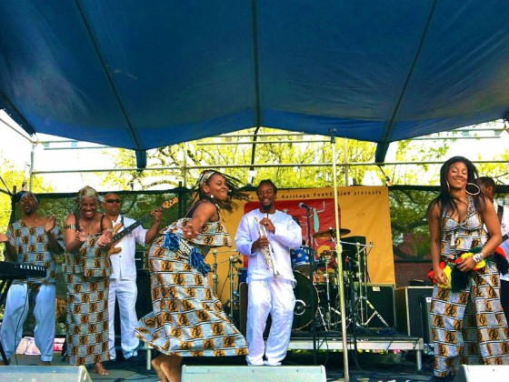 Bamboula 2000 performing at Congo Square in 2013 [Photo by Melanie Merz]