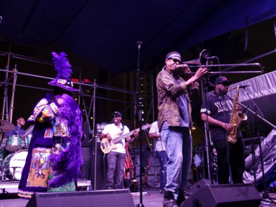 Corey Henry & the Treme Funktet [Photo by Keith Hill]