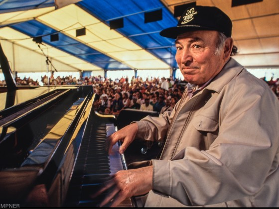 George Wein at Jazz Fest 1992 [Photo by Marc PoKempner]