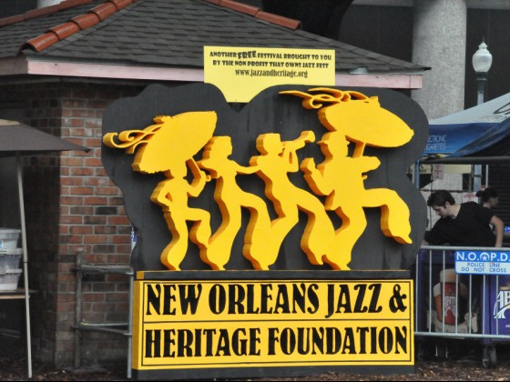 New Orleans Jazz & Heritage Foundation logo [Photo by Kichea S. Burt]