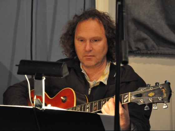 Brian Seeger at WWOZ [Photo by Kichea S. Burt]