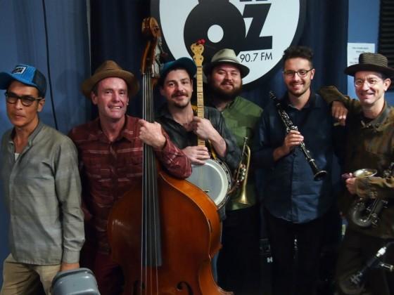 Smoking Time Jazz Club at WWOZ, October 2016 [Photo by Bill Sasser]