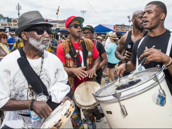 Mohawk Hunters at Jazz Fest 2019 [Photo by Ryan Hodgson-RIgsbee]