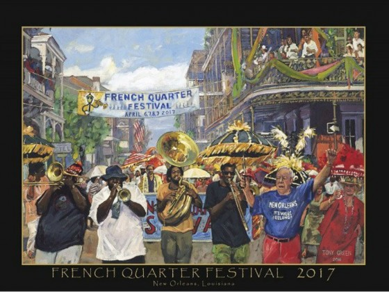 2017 French Quarter Fest official poster