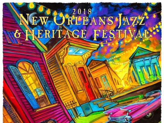 New Orleans Jazz Fest 2018 >> Fats Domino Jazz Fest 2018 Poster Wwoz New Orleans 90 7 Fm