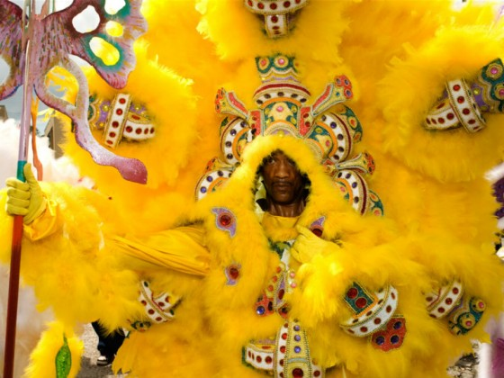 Yellow Pocahontas Big Chief Darryl Montana [Photo by Ryan Hodgson-Rigsbee]