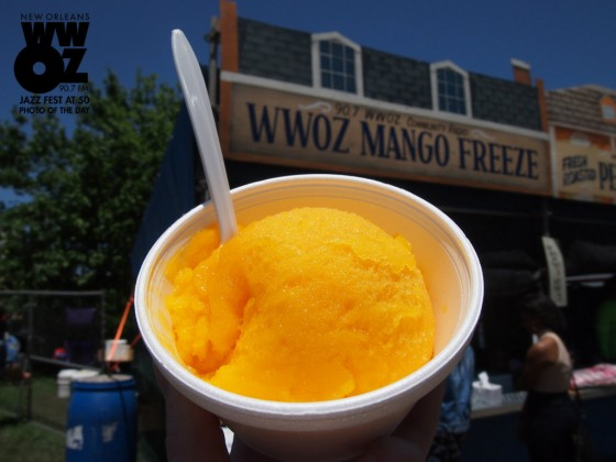 Mango Freeze at Jazz Fest [Photo by Melanie Merz]