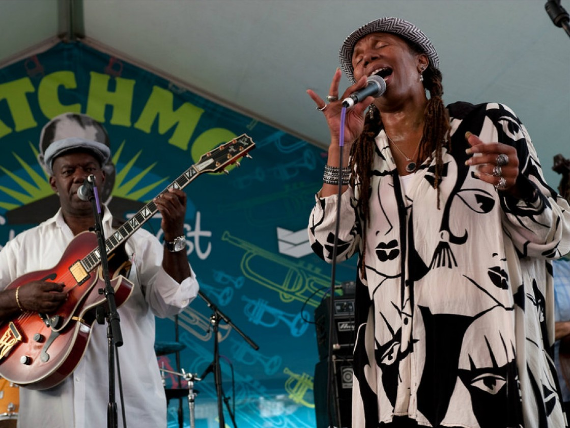 Charmaine Neville with Detroit Brooks at Satchmo Summer Fest [Photo by Ryan Hodgson-Rigsbee]