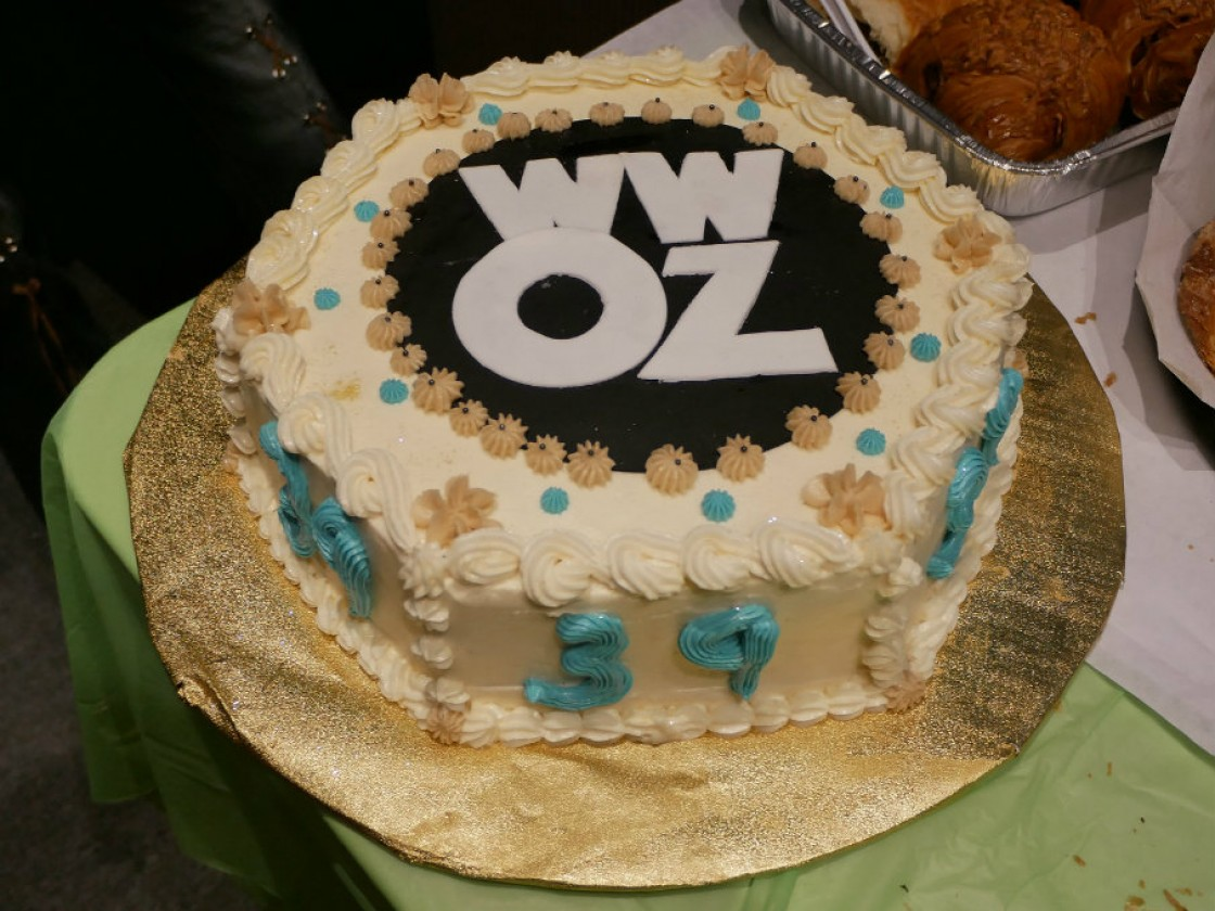 WWOZ cake from Tiger Bakery [Photo by Louis Crispino]