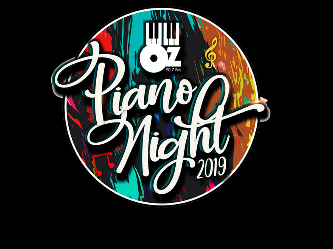 Piano Night graphic with black BG