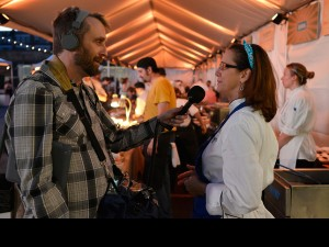 George Ingmire and Susan Spicer at Boudin and Beer 2012. by Ryan Hodgson-Rigsbee