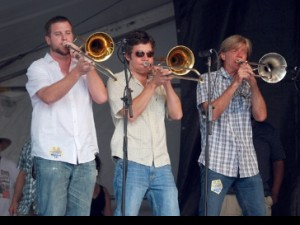 Bonerama at Jazz Fest 2010. Photo by Hunter King.