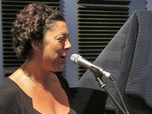 Ingrid Lucia at WWOZ. Photo by Jennifer Leslie.