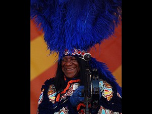 Big Chief Monk Boudreaux at Jazz Fest 2010. Photo by WWOZ.