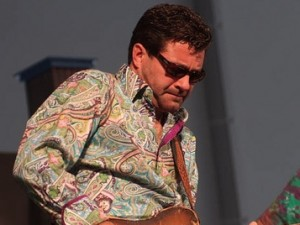Tab Benoit at Jazz Fest 2008. Photo by Leon Morris.