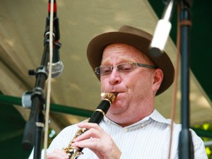 Tim Laughlin with the Connie Jones Band in 2010. Photo by Richie Drouant.