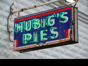 photo of hubig's pies sign