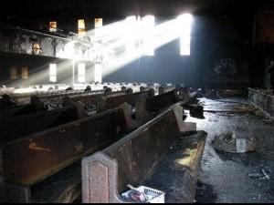 Photo of fire-damaged church courtesy of NOLA.com