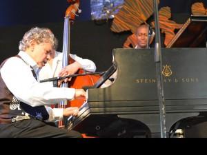 Monty Alexander onstage at Jazz Fest 2015 [Photo by Kichea S. Burt]