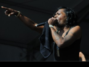 Big Freedia performing at Jazz Fest 2015 [Photo by Black Mold]