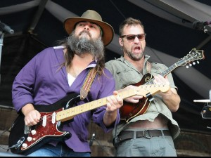 Chris Mule and Aaron Wilkinson of Honey Island Swamp Band at Jazz Fest 2016 [Pho