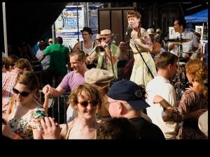Meschiya Lake & the Little Big Horns at French Quarter Fest 2012 [Photo by Ryan
