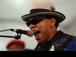 Henry Butler at Jazz Fest 2003 [Photo by Leon Morris]