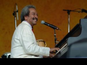 Allen Toussaint at Jazz Fest 2005 [Photo by Leon Morris]