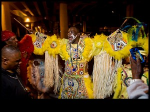 Big Chief Victor Harris on St. Joseph's Night 2013 [Photo by Ryan Hodgson-Rigsbe