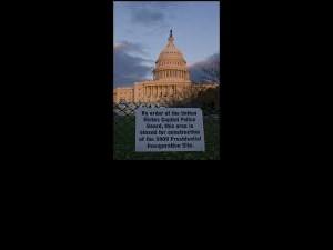 Obama Inauguration Preparations Sign