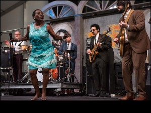 Our final live broadcast of Day 1: Sharon Jones & the Dap-Kings from the Blues T