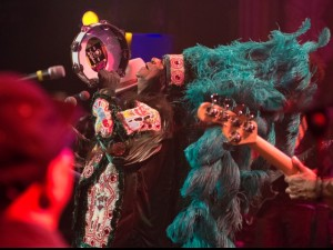 Big Chief Monk Boudreaux during the 'Busted on Bourbon St' concert at the Metro in Chicago on July 2 [Photo by Marc PoKempner]