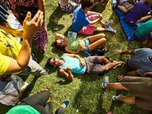 Fans at French Quarter Fest 2016 [Photo by Eli Mergel]
