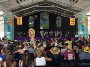 Inside the Gospel Tent at Jazz Fest 2016