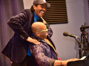 Bobby Rush and Davell Crawford [Photo by Marc PoKempner]