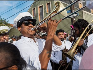Corey Henry with Treme Brass Band in 2016 [Photo by Ryan Hodgson-Rigsbee]