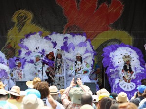 Creole Wild West onstage at Jazz Fest [Photo by Bill Sasser]