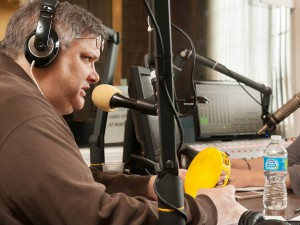 Michael Dominici on-air [Photo by Ryan Hodgson-Rigsbee]