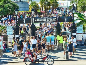 Jackson Square during French Quarter Fest [Photo by Eli Mergel]