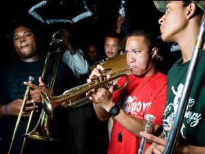 Glenn Hall III with Baby Boyz Brass Band in 2012 [Photo by Ryan Hodgson-Rigsbee]