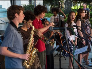 Heritage School of Music students performing at French Quarter Fest 2017 [Photo by Ryan Hodgson-Rigsbee]