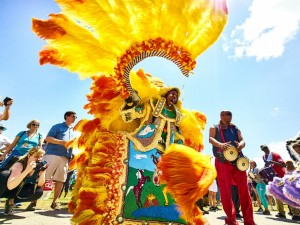 Jazz Fest Mardi Gras Indian [Photo by Eli Mergel]