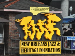 New Orleans Jazz & Heritage Foundation logo [Photo by Kichea S. Burt]
